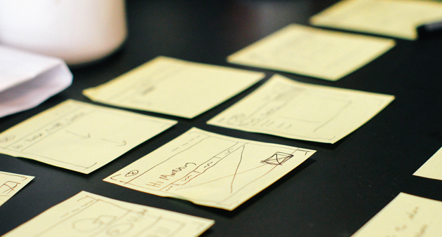 Stickynotes with writing on them